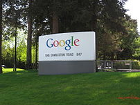 Sign at the Googleplex