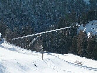 Gründjitobel Viaduct - Gründjitobel Viaduct in winter