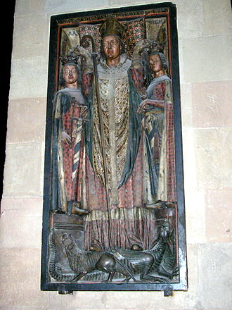 Siegfried III (archbishop of Mainz) - Archbishop Siegfried III of Mainz. The oldest memorial in Mainz Cathedral.