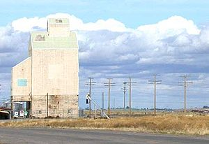 Fort Hall Indian Reservation - Grain elevator on the Fort Hall Indian Reservation