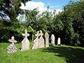Gravestones at All Saints Church - geograph.org.uk - 452263.jpg