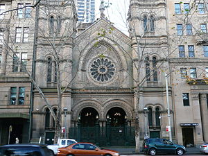 History of the Jews in Australia - The Great Synagogue, Elizabeth Street, Sydney, constructed in 1878.