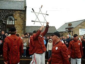 Long Sword dance - Image: Grenoside 1