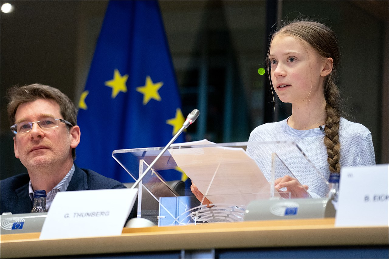 Greta Thunberg urges MEPs to show climate leadership (49618310531).jpg