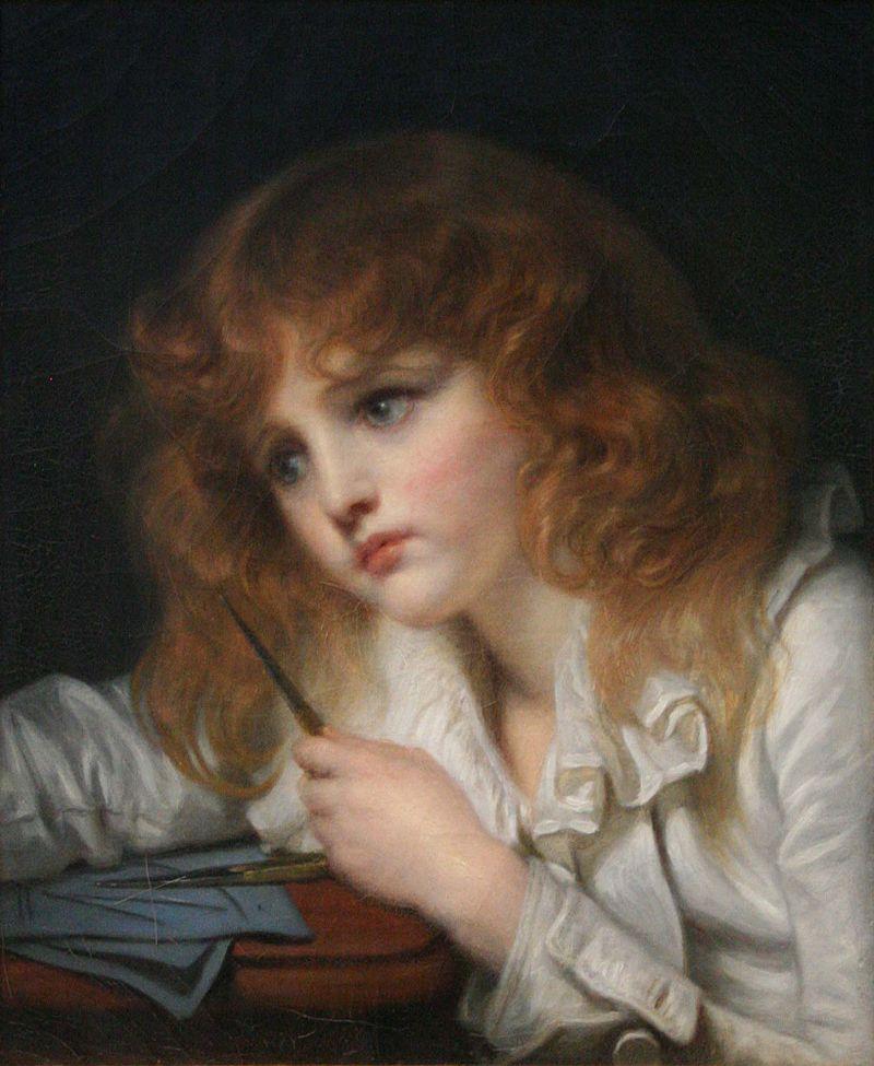 让·巴蒂斯特·格勒兹法国画家 Jean Baptiste Greuze (French, 1725–1805) - 文铮 - 柳州文铮