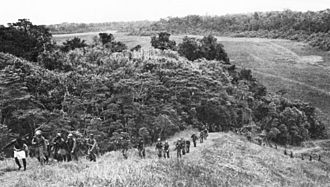 Carlson's patrol - Native Solomon Islanders guide US 2nd Marine Raiders in pursuit of Japanese forces on Guadalcanal in November 1942