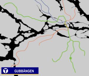 Gubbängen metro station - Image: Gubbängen Tunnelbana