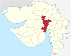 Ahmedabad location in Gujarat