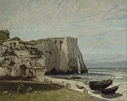 Gustave Courbet: The Cliff at Étretat after a Storm