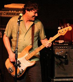 Mudhoney - Bass guitarist Guy Maddison in 2007