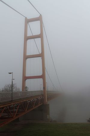 Guy West Bridge - The Guy West Bridge in fog.