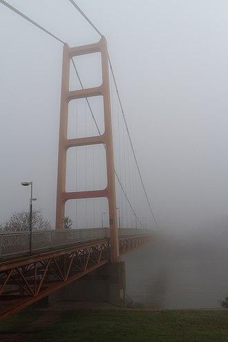 Guy West Bridge - The Guy West Bridge in fog.