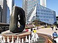 HK 中環 Central 交易廣場 Exchange Square 亨利摩爾 Henry Moore sculpture Oval with Points December 2019 SS2 05.jpg