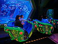 HK Disneyland 巴斯光年 星際歷險 Buzz Lightyear Astro Blasters visitors train Oct-2013 002.JPG