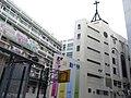 HK Hung Hom 大環道 Tai Wan Road 聖匠堂 Church cross 聖匠中學 Holy Carpenter Secondary School Crucifix.jpg