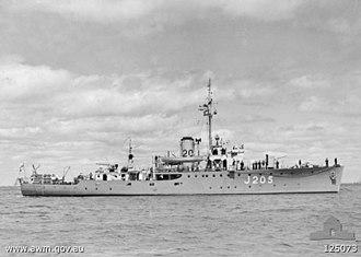 HMAS Townsville (J205) - HMAS Townsville in 1946
