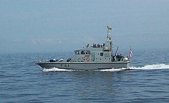 HMS Explorer (P164) - Image: HMS Explorer 2004
