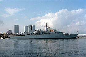 Die HMS Broadsword 1994 in Tampa Bay
