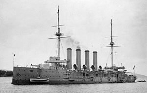 Cressy-class cruiser - Image: HMS Euryalus SLV Allan Green c