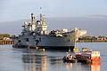 HMS Illustrious Moored on the River Thames MOD 45150120.jpg