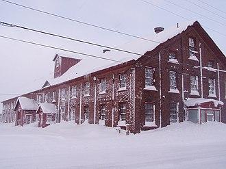 Calumet and Hecla Mining Company - Image: H n C Mining Company Warehouse Calumet, MI