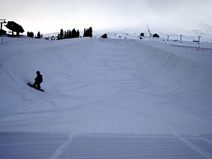 Half-pipe - Half-pipe in snow