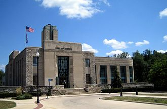 Excelsior Springs, Missouri - Excelsior Springs, Missouri City Hall, commonly known as The Hall of Waters.