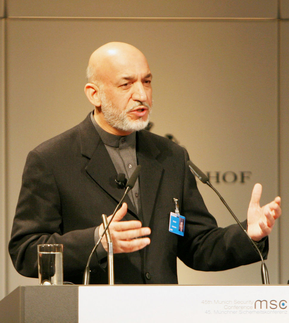 Hamid Karzai in February 2009