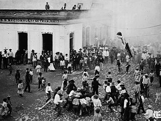 Burning of Judas - Judas hung in effigy, Mexico City, early 20th century