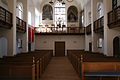 Hans Egedes Kirke Copenhagen interior from altar.jpg