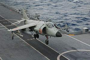 Carrier-based aircraft - Sea Harrier STOVL  aircraft.