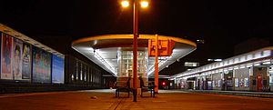Harrow-on-the-Hill Station at night, cropped