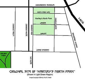 North Park, San Diego - Original Boundaries of Hartley's North Park