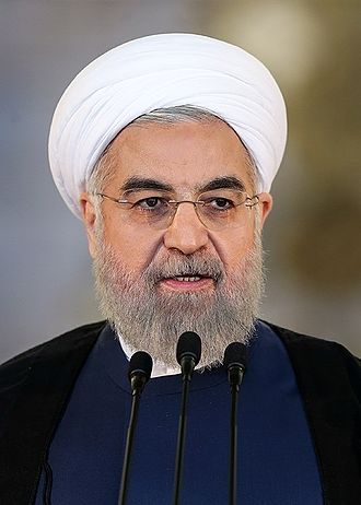 Iranian presidential election, 2017 - Image: Hassan Rouhani in Saadabad