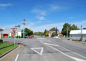 Hawarden, New Zealand - High St, the main street of Hawarden