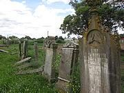 Headstones at Maitland Jewish Cemetery
