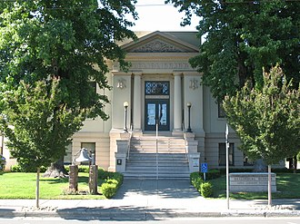 Healdsburg, California - The Healdsburg Carnegie library, which now houses the Healdsburg Museum