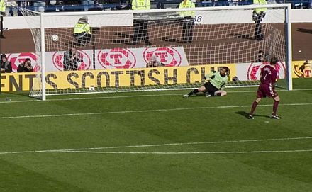 Steven Pressley scores for Hearts against Gretna in the 2006 Scottish Cup Final shoot-out Hearts vs. Gretna Scottish Cup final.jpg