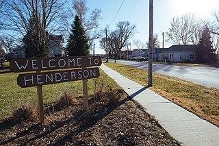 Henderson, Iowa City in Iowa, United States