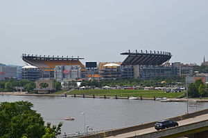 Heinz Field - A view of Heinz Field from across the river.