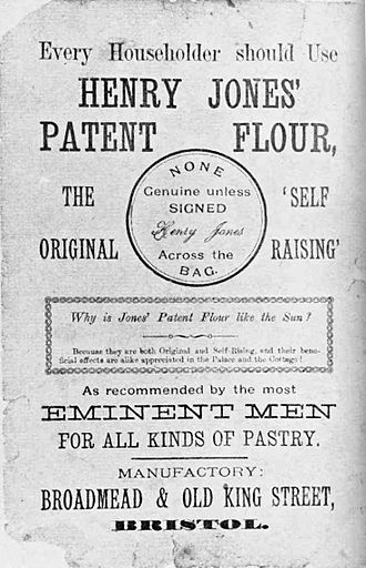 Baking mix - Image: Henry Jones Self Raising Flour Advertisement