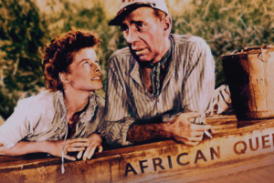 The African Queen (film) - Hepburn and Bogart in a publicity still for the film.