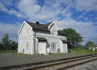 Solør Line - Heradsbygd Station is in the plainer style designed by Harald Kaas