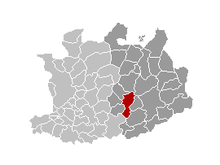 Location of Herentals in the province of Antwerp