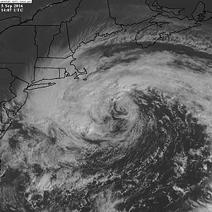 Hurricane Hermine - Post-Tropical Cyclone Hermine southeast of New England on September 5