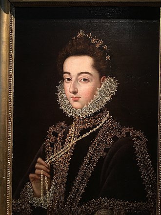 Infanta Catherine Michelle of Spain - Portrait of Infanta Catalina Micaela of Austria by Alonzo Sanchez Coello, Hermitage Museum.