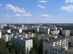 Hervanta - Residential tower blocks in Hervanta