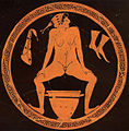 Hetaera urinating into a skyphos at a Kylix by the Foundry Painter Antikensammlung Berlin.jpg