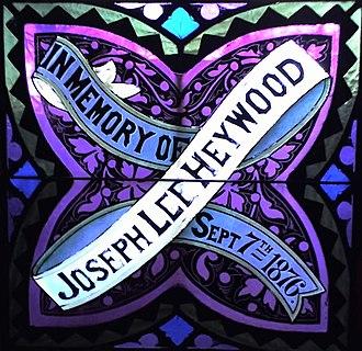 Joseph Lee Heywood - Memorial Window at First United Church of Christ