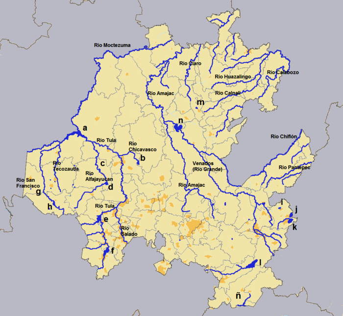 Geografa del Estado de Hidalgo  Wikipedia la enciclopedia libre
